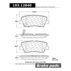 Plaquettes avant Genesis Hyundai 2.0T et V6