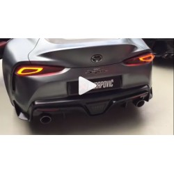Akrapovic Supra A90 MKV exhaust catback stainless steel