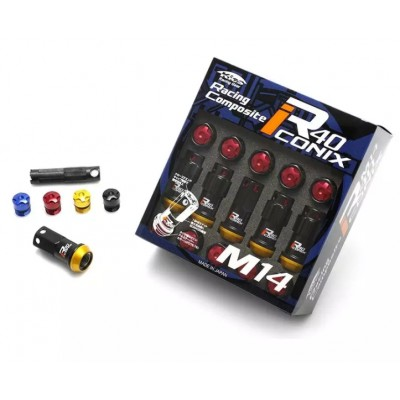 Project Kics R40 ICONIX M14 Lug Nuts & Locks - 14x1.5