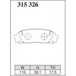 Plaquette avant Dixcel Chaser Cresta 2.5 turbo 1JZ